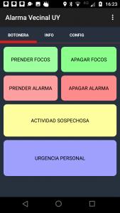 alarma vecinal uy app movil botones